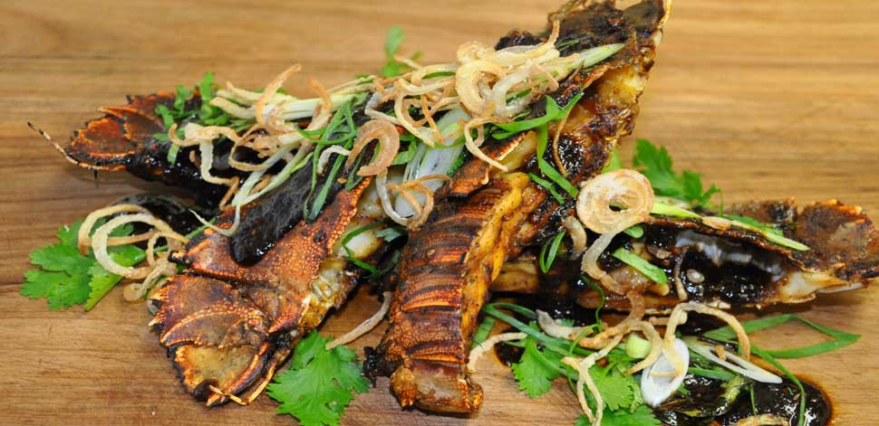 Roasted Slipper Lobster in Horopito Black Pepper Sauce ...
