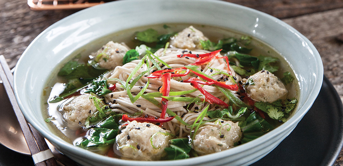 Annabel Langbein's Chicken & Ginger Dumpling Bowl