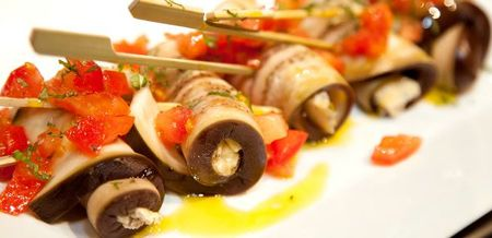 Aubergine Rolls - for Antipasti