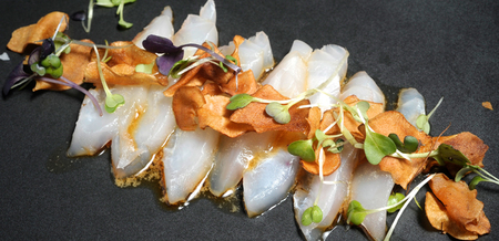 Snapper Carpaccio with Sesame-Soy…
