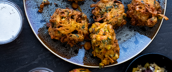 Chilli & Spring Onion Bhajis