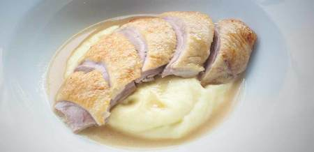 Roast Duck with Parsnip Purée