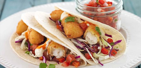 Fish Tacos with Spicy Tomato Salsa