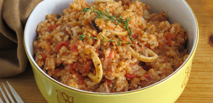 Baked Seafood Risotto