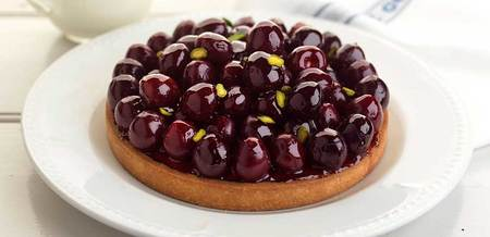 Merlot Cherry and Almond Cream Tart