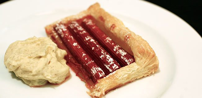Honey Rhubarb Tarts with Ginger Mascarpone