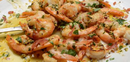Prawns with Garlic Butter & Crispy…