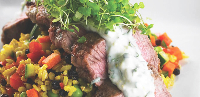 Lamb Backstrap with Coconut Raita