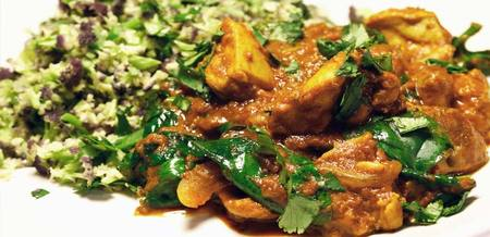 Chicken & Spinach Tikka Masala with…