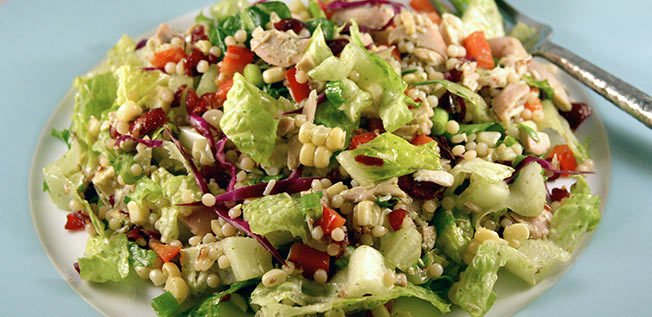 Christmas Chopped Chicken Salad (with Sweet Basil Dressing)
