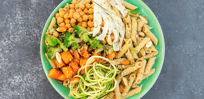 Vegan Roast Vegetable Pasta Bowl w Pulse…