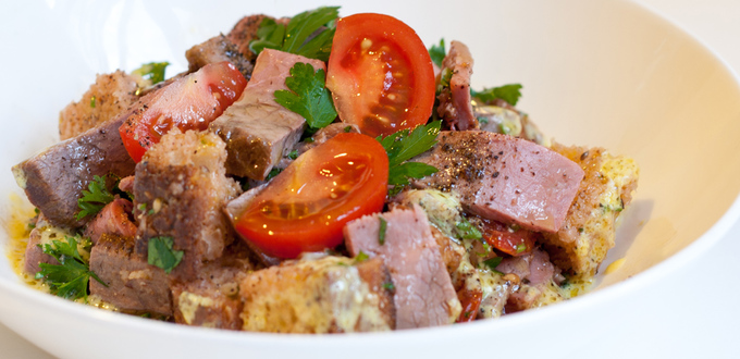 Roast Beef and Mustard Panzanella