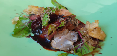 Smoked Venison with Balsamic Beetroot