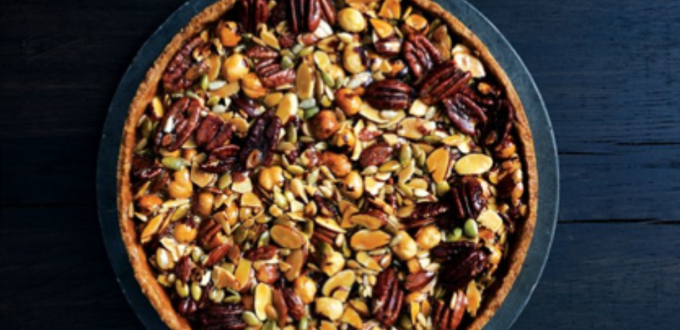 Caramelized Honey Nut and Seed Tart