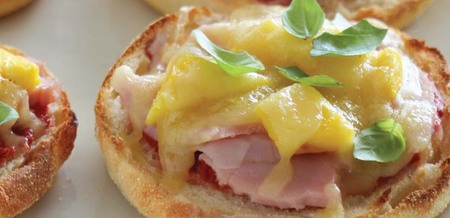 Ham and Pineapple Muffin Pizzas