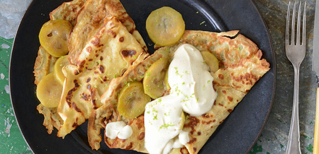 Feijoa & Lime Crepes with Cinnamon…