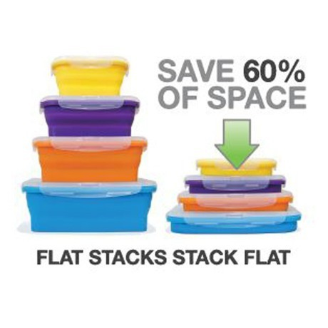 Flat Stacks Food Containers