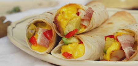 Bacon & Egg Breakfast Taquitos