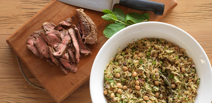 Balsamic Lamb and Orzo Salad