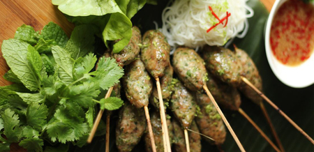 Nem Nuoung - Grilled Pork Skewers with…