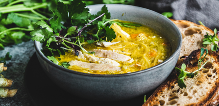 Chicken & Spaghetti Squash Soup