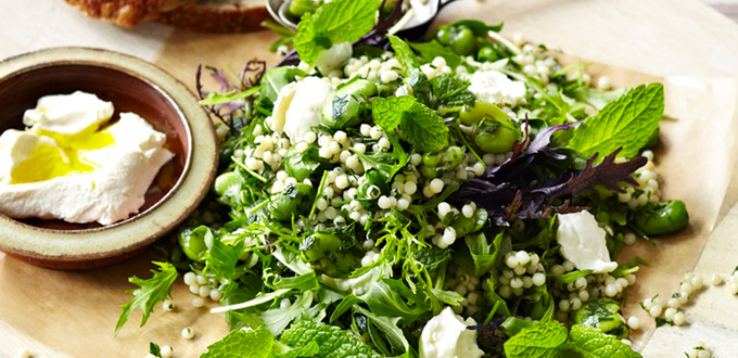 Israeli Couscous and Broad Bean Salad