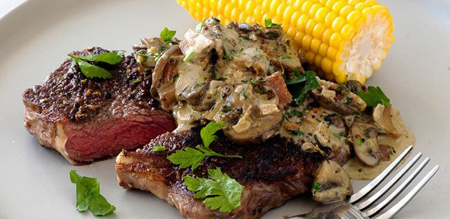 Perfect Steak with Creamy Mushroom and…