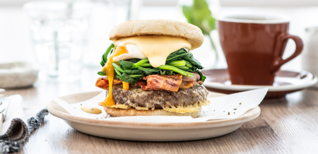 Gourmet Benedict Brunch Burger