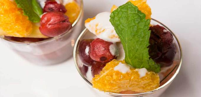 Fruit with Tamarind and Coconut Cream