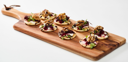 Beetroot, Sour Cream and Walnut Blinis…