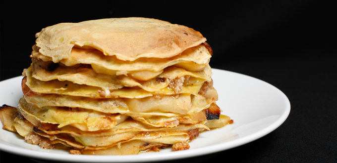 Apple Almond Crepe Cake