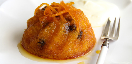 Syrupy Orange Polenta Cakes
