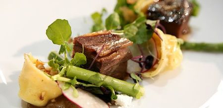 Braised Beef Short Rib with Chevre…