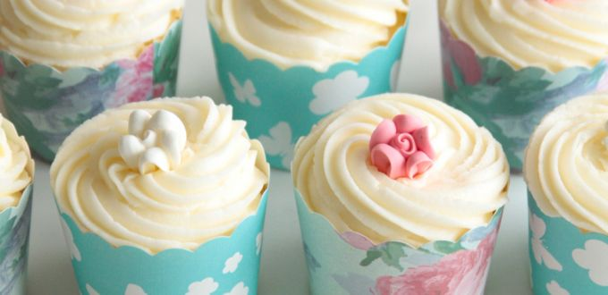 Swiss Meringue Buttercream Cupcake Frosting