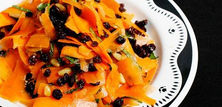 Ribboned Carrot and Currant Salad