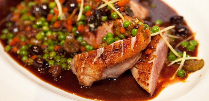 Lemon Duck Breasts with Olives and Vegetables