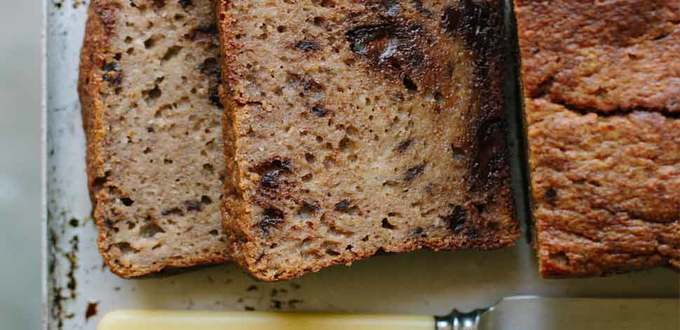 Dark Chocolate, Buckwheat and Pear Loaf