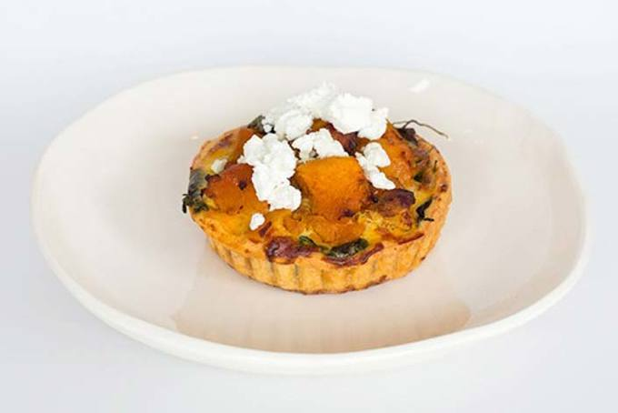 Pumpkin & Goat's Cheese Tart