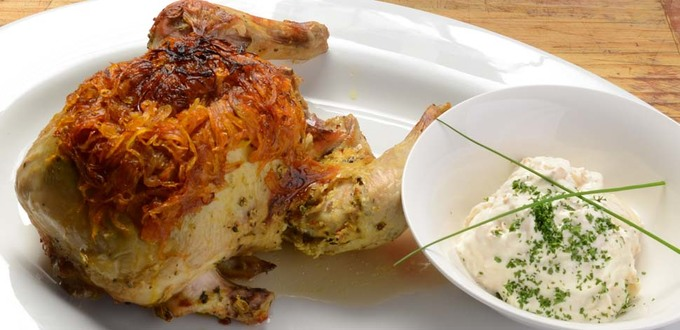 Fragrant Indian Roast Chicken with Saffron Onions