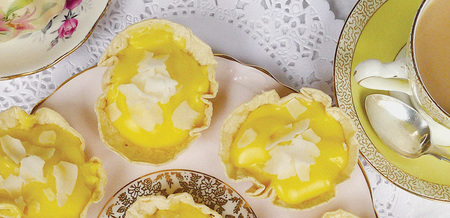 Custard Tarts With Sweet Lemon Coconut