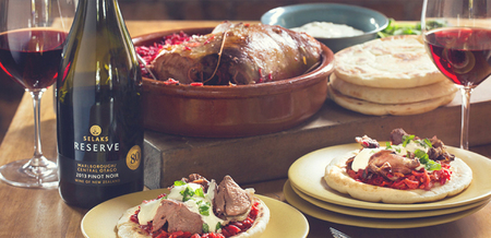 Boneless Lamb Leg, Stuffed with Beetroot…