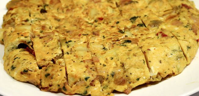 Ham, Garlic and Potato Tortilla