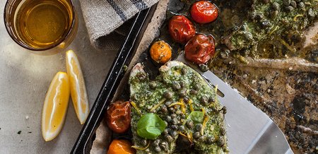 Annabel Langbein's Fish with Pesto
