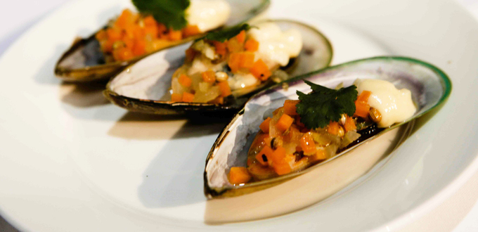 Mussels Escabeche with Aioli