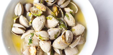 Diamond Clams with Fresh Horseradish