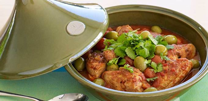 Moroccan Harissa Chicken Tagine