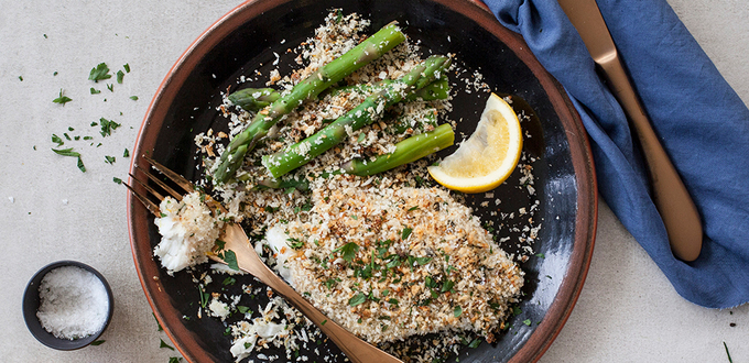 Annabel Langbein's Fish with Lemon Caper Crumb