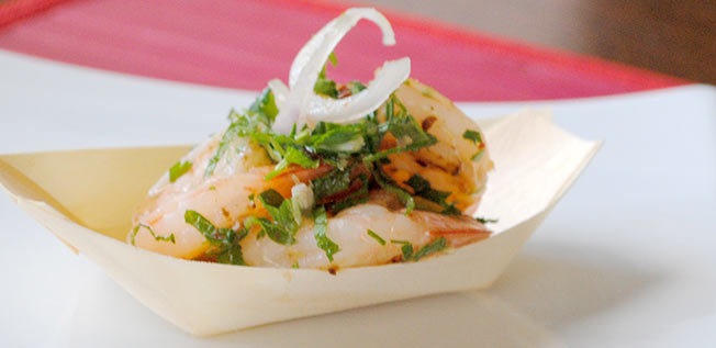 Christmas BBQ Spicy Prawn Salad