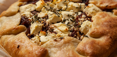 Caramelised Onion and Feta Galette